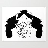 Skull Shot Art Print