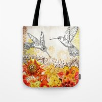 Hummingbird Garden Tote Bag