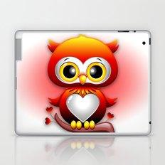 Baby Owl Love Heart Cartoon  Laptop & iPad Skin