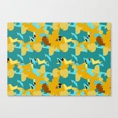 Flakes Deep Canvas Print