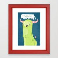 Friend? Framed Art Print