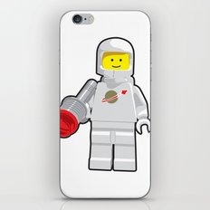 Vintage Lego White Spaceman Minifig iPhone & iPod Skin