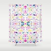 Paint Splatter - White Shower Curtain
