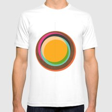 FUTURE GLOBES 001 Mens Fitted Tee White SMALL