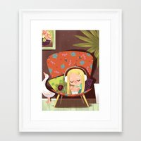 Slow It Down Framed Art Print