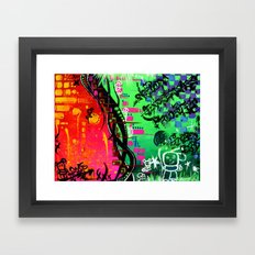 """ACTION EXPRESSES PRIORITIES"" Framed Art Print"