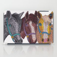 Horse Triptych #2 iPad Case
