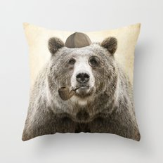 Bear Necessities Throw Pillow