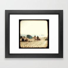 Beach Couple Framed Art Print