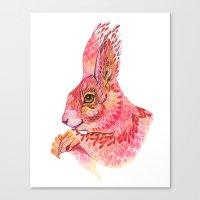 The squirrel magic  Canvas Print