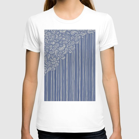 The Unraveling of Paisley Lace (in blue and cream) T-shirt