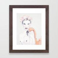 Molly & Flamingo Framed Art Print
