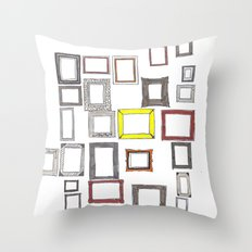 Art, Art Everywhere, but Not A Frame To Fill. Throw Pillow