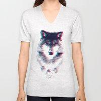 Act Like A Wolf.  Unisex V-Neck