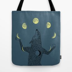 Moon Juggler Tote Bag