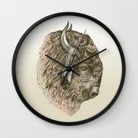 Buffalo Portrait Wall Clock