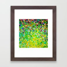 HOLIDAY CHEER - Bold Christmas Festive Green Red Yellow Sparkle Stars Glitter Bling Abstract Art Framed Art Print