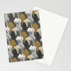 Arboreal Silhouettes - Golds & Silvers Stationery Cards