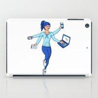 Super Freelance Woman iPad Case