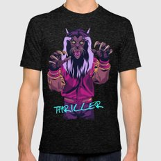 THRILLER - Werewolf Version Mens Fitted Tee Tri-Black SMALL