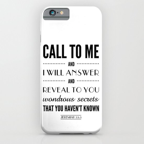 Wondrous Secrets. Jeremiah 33:3.  iPhone & iPod Case
