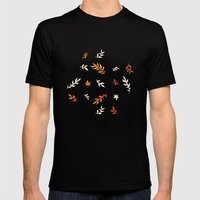 Watercolor autumn Mens Fitted Tee Black SMALL