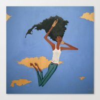 Floating Fro Man Canvas Print