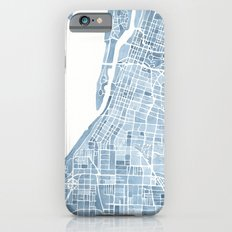 Memphis Tennessee blueprint watercolor map iPhone 6s Slim Case