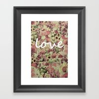 FLORAL LOVE Framed Art Print
