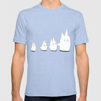 Couple Of TOTORO's Frien… Mens Fitted Tee Tri-Blue SMALL