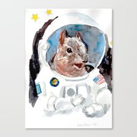 Canvas Print featuring Astro-Nut by Becca Kallem