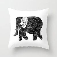 Phingerfant Throw Pillow