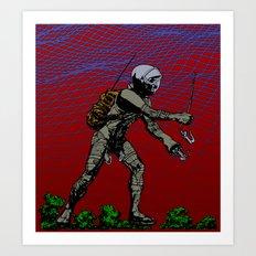 In Martian Fields Art Print