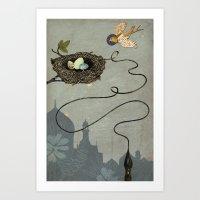 Bird's Winged Flight Art Print