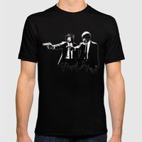 Divine Monkey Intervention Mens Fitted Tee Black SMALL