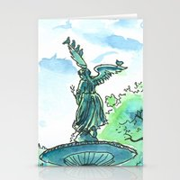 Angel of the waters - Central Park, New York Stationery Cards