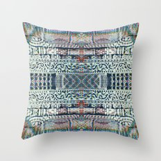 Digital Nepal Throw Pillow