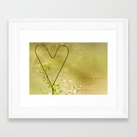 Open Your Heart Framed Art Print