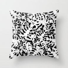 My white leaves Throw Pillow