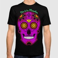 dia de los muertos (sugar skull) Mens Fitted Tee Black SMALL