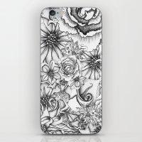 B&W Flowers  iPhone & iPod Skin