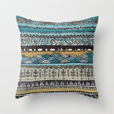 Duck egg and Gold Throw Pillow