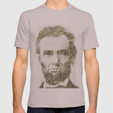Abraham Lincoln Mens Fitted Tee Cinder SMALL
