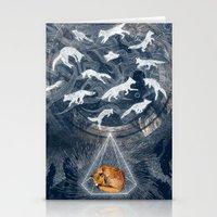 orange Stationery Cards featuring GHOSTS  by Sandra Dieckmann