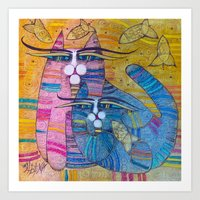MUMMY AND ME Art Print