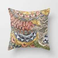 Quilted Forest: The Bear Throw Pillow