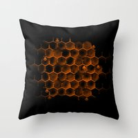 Glucose Hive Throw Pillow