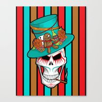 Day of the Dead Voodoo Lord Canvas Print
