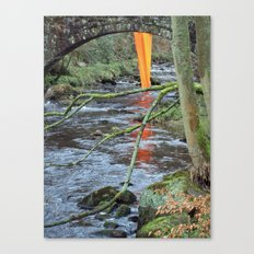 Orange Reflection Series - Gibson Mill 1 Canvas Print