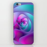 Spiral Labyrinth in Blue and Pink iPhone & iPod Skin